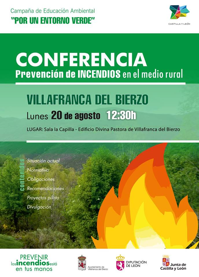 Foto de Conferencia sobre prevención de INCENDIOS