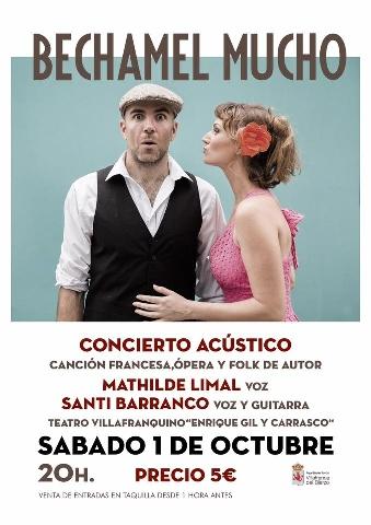 Foto de Bechamel Mucho el sábado en el Teatro Villafranquino