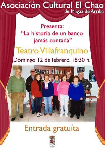 Foto de La historia de un banco jamás contada en el Teatro Villafranquino