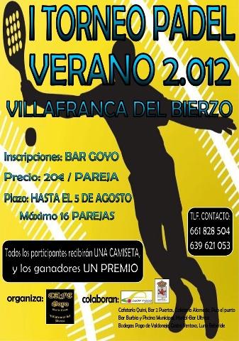 Foto de I Torneo Padel 2012 en Villafranca del Bierzo