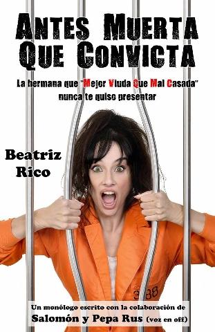Foto de Beatriz Rico en el Teatro Villafranquino presentando