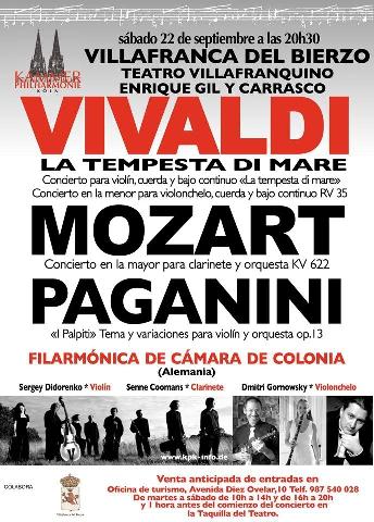 Foto de La Orquesta Filharmónica de Cámara de Colonia en Villafranca del Bierzo