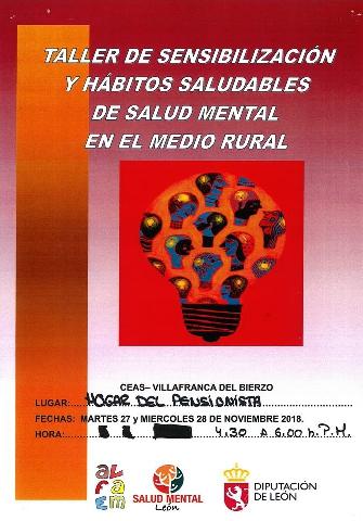 Foto de Taller de Sensibilización y Hábitos Saludables de Salud Mental en el Medio Rural