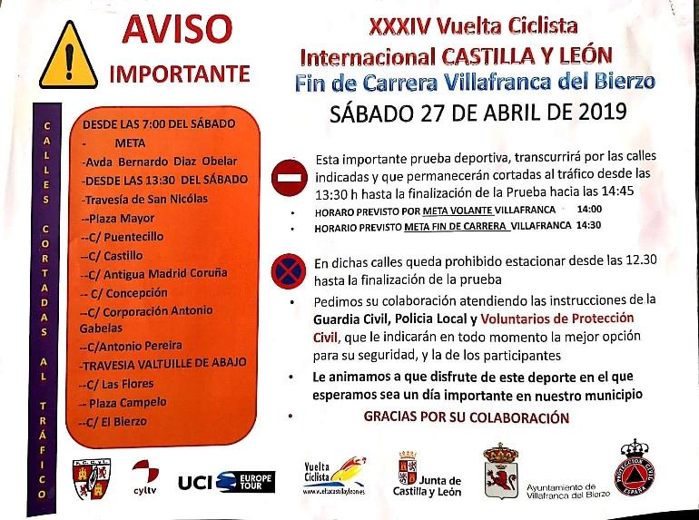 Foto de AVISO IMPORTANTE - XXXIV Vuelta Ciclista Internacional CASTILLA Y LEÓN
