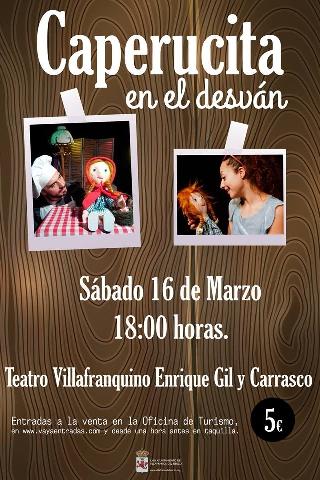 Foto de Caperucita en el desván llega al Teatro Villafranquino