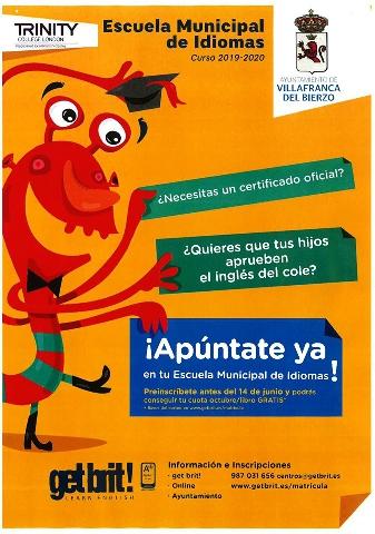 Foto de Preinscripción curso 2019-2020 de la Escuela Municipal de Idiomas